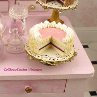 Dollhouse Miniature Food Handmade Cake