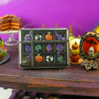 Dollhouse Miniatures Halloween  Handmade chocolates