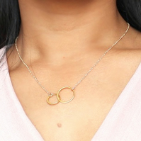 Gold Vermeil Double Circle Infinity Necklace