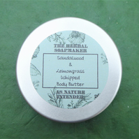 Sandalwood & Lemongrass Whipped Body Butter 100ml
