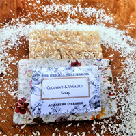 Totally natural Coconut & Vanilla Soap - mild sweet comfort