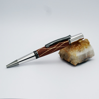 Hand turned ballpoint pen in Texas Mesquite laminated wood