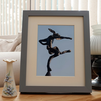 Dancing in the Moonlight - a photograph of a hare sculpture