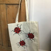 Ladybird Printed Shopping Bag