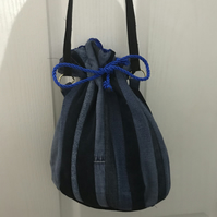 Recycled jeans bucket bag