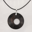 Offset wood pendant - ebony