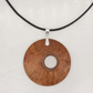 Offset wood pendant - red coolabah