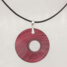 Offset wood pendant - purpleheart