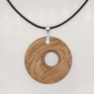 Offset wood pendant - oak