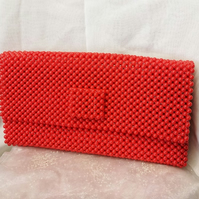 Beaded Red Clutch bag