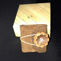 Mini  suede and Leather book