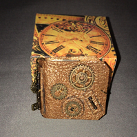 Mini Leather handmade book (Steampunk Style)