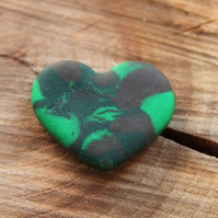 Camouflage Heart Pin Brooch