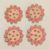 Victorian rose inspired flower  buttons