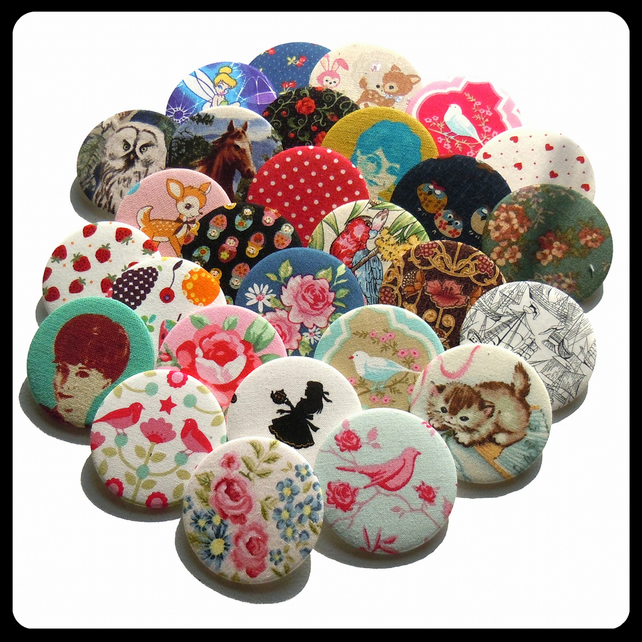 50 Fabric Covered Pocket Mirrors