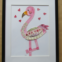 Baby Flamingo Collage