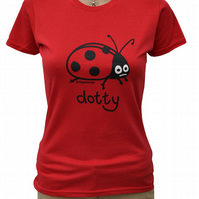 Womens or Teen fitted LADYBIRD T.shirt 100% Cotton. Jam Red  Sizes 6-20.