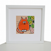 'DESK BUDDY' Your own cute GINGER CAT to keep you company!