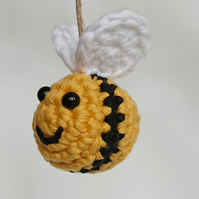 Crochet Bee - Bumble Bee Hanging Decoration