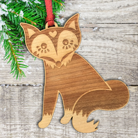 Scandinavian Christmas Tree Decoration - fox ornament - folk art decoration