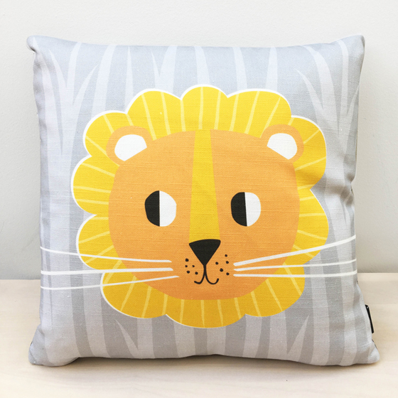 Lion cushion - kids cushions - modern nursery decor