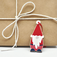 Scandinavian Christmas Tree Decoration - Christmas gnome - wood decoration