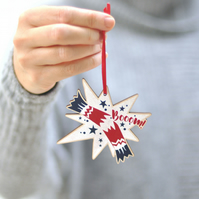 Scandinavian Christmas Tree Decoration - Christmas cracker - wood decoration