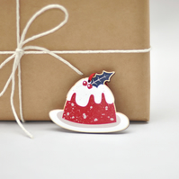 Scandinavian Christmas Tree Decoration - Christmas pudding - wood decoration