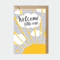 New baby card - newborn - welcome little one - baby card
