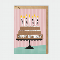 Birthday card - cake - for him - for her