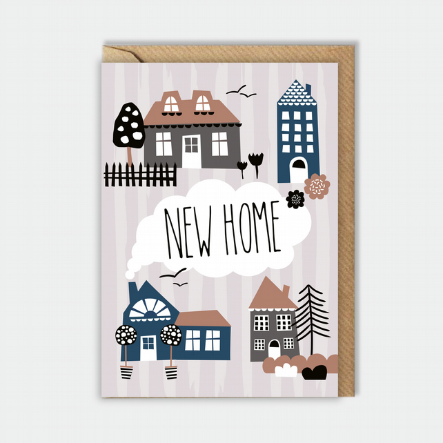 New Home greeting card - moving card