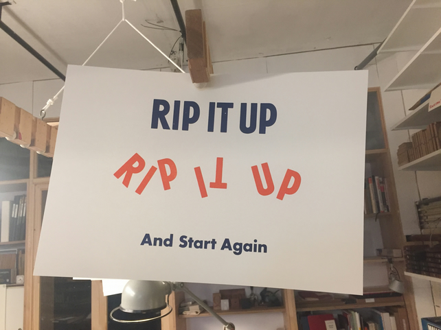 Limited Edition 'Rip It Up' Letterpress Poster