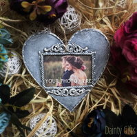 Personalised Wooden Hanging Heart Decoration - Photo decoration