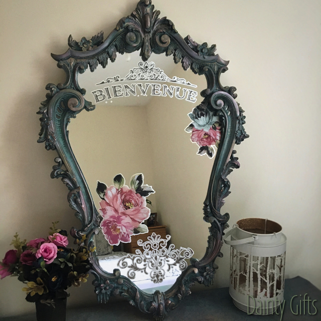 Up-Cycled Ornate Mirror