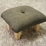 Footstool  Handcrafted Small Footstool Upholstered Foot Rest