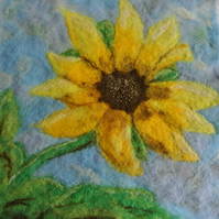 Wet and Needle Felting Kit - Sunflower