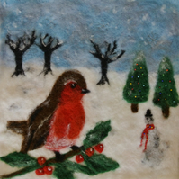 Wet and Needle Felting Kit - Christmas Picture