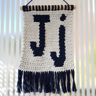 Customisable Macrame Letter Wall hanging