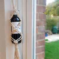 Macrame Wine Bottle Holder Reusable Gift Bag