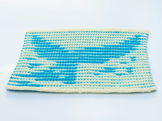 Whale Tail Dishcloth