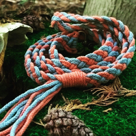 Braided dog lead - Forget-Me-Not