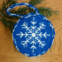Needlepoint Tapestry Kit for Snowflake Christmas Decoration