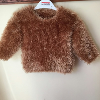 Light brown furry sweater