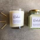 Naked, unscented Soy Wax Candle 5oz & 7oz