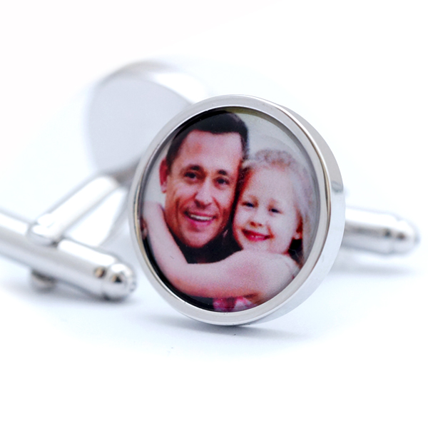 Custom Photo Cufflinks - Personalised Photograph Cuff links