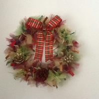 Organza Christmas Wreath