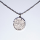 Sixpence Pendant - 1959 - 60th Birthday