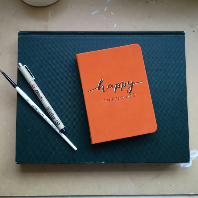 Happy thoughts - A6 soft touch notebook