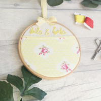 Bits & Bobs - Hand Embroidery Hoop Organiser