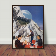 Apres Ski '54 Hand cut collage by LocalHotelParking